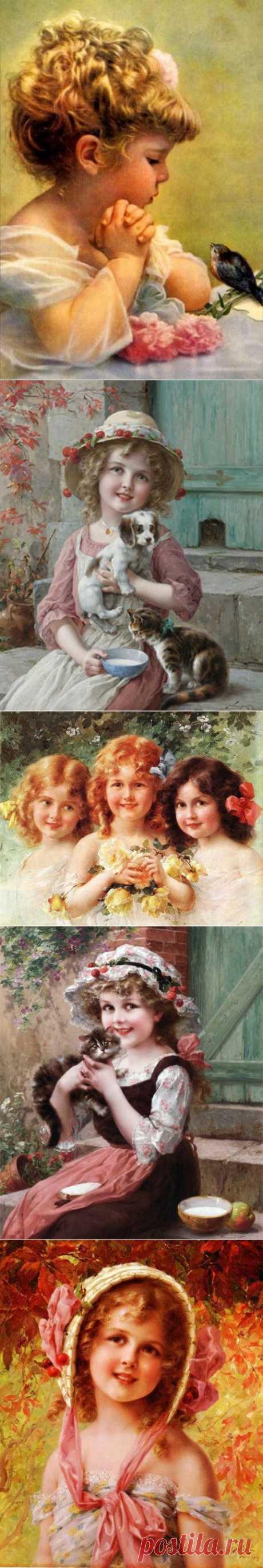 Французский художник Эмиль Вернон родился в 1872 году в городке Блуа. Живопись изучал в мастерской жанрового художника и скульптора Огюста Жозефа Трюфема. После учился в Университета в городе Туре на отделении изобразительных искусств. Вернон специализировался на жанровых сценах и портретной живописи. Особенно хороши его портреты детей и молодых девушек. В 1899 году художник осуществил оформление театра де Шателлье в городе Невер (купол и занавес сцены). В 1904 году художник переезжает в Лондон.