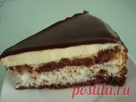 """Торт конфета """"БАУНТИ""""  Ингредиенты: Для теста: - 150 гр. мягкого сливочного масла Показать полностью…"""