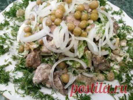 Салат ГУРМАН из куриной печени. Chicken liver salad