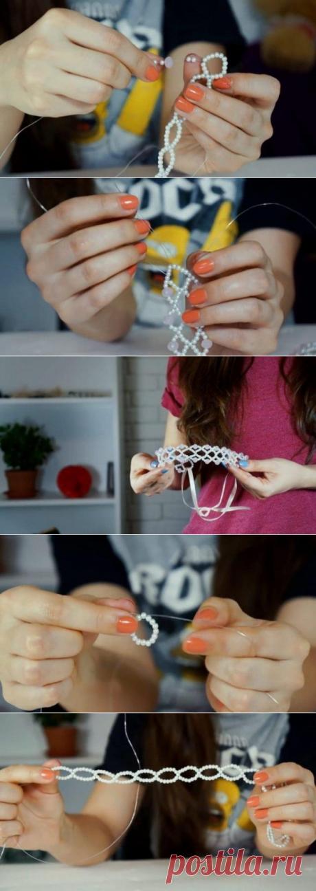 10 идей как сделать ободок из бусин и бисера своими руками #МК