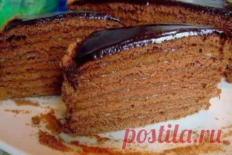 Торт медовик с шоколадным кремом