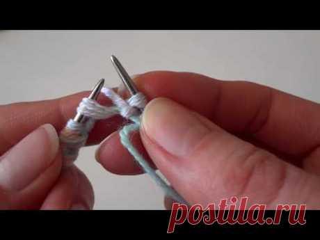 Двойной Итальянский набор петель с дополнительной нитью. Часть 1 - YouTube