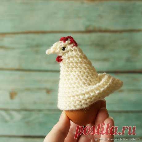 Мастер-класс: Вяжем пасхальную курочку-грелку для яйца   Журнал Ярмарки Мастеров