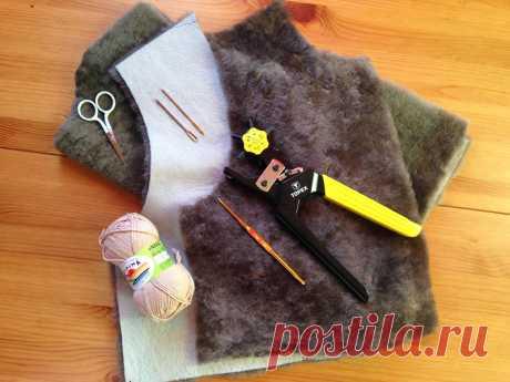 Как сшить жилет из овчины без швейной машинки — Мастер-классы на BurdaStyle.ru