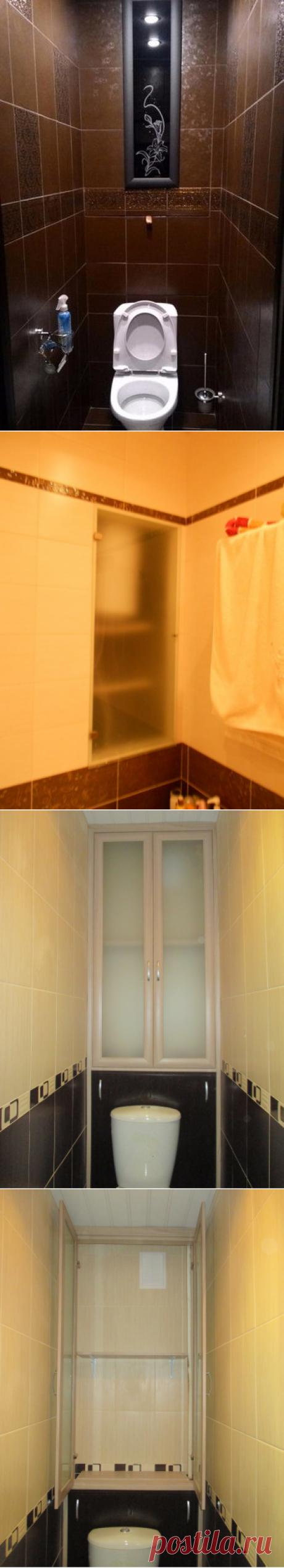 Шкафчик в туалет с матовым стеклом, Шкаф в туалет со стеклом | Феникс