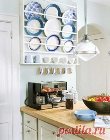 Посуда в интерьере кухни: примеры на фото