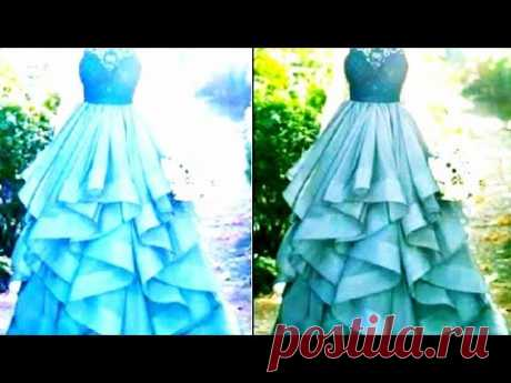 Frill Gown cutting and stitching..👌👌👍👍