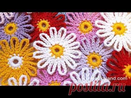 DIY Tutorial EASY Crochet flower  How to Crochet Flower