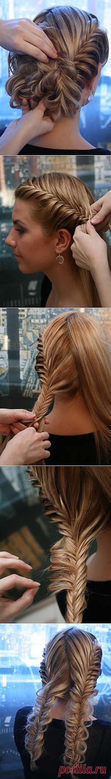 Делаем прическу из кос