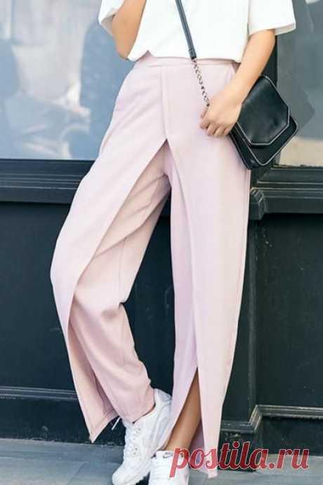 #акцент_на_детали@sewing_school  Оформление брюк источник pinterest.pt