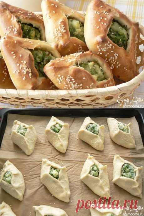 Пирожки с черемшой из теста быстрого приготовления
