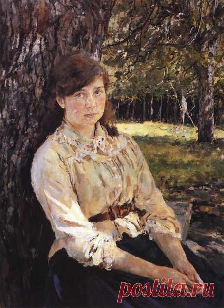 Девушка, освещенная солнцем (Портрет М.Я.Симонович). 1888     Валентин Александрович Серов (1865-1911). Часть 2 : vakin