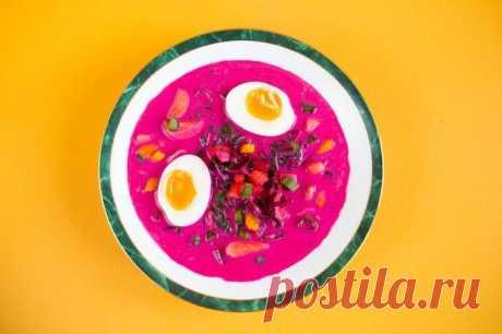 Литовский холодный суп со свеклой на кефире – пошаговый рецепт с фото.