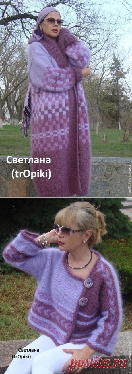 Cardigan and jacket spokes. Lilac mood from Svetlana Volkodav