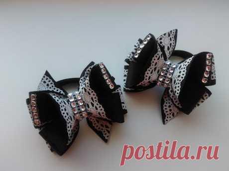 Bows from repp tapes MK Kanzasha \/ The bow of REP ribbons Kanzashi MK