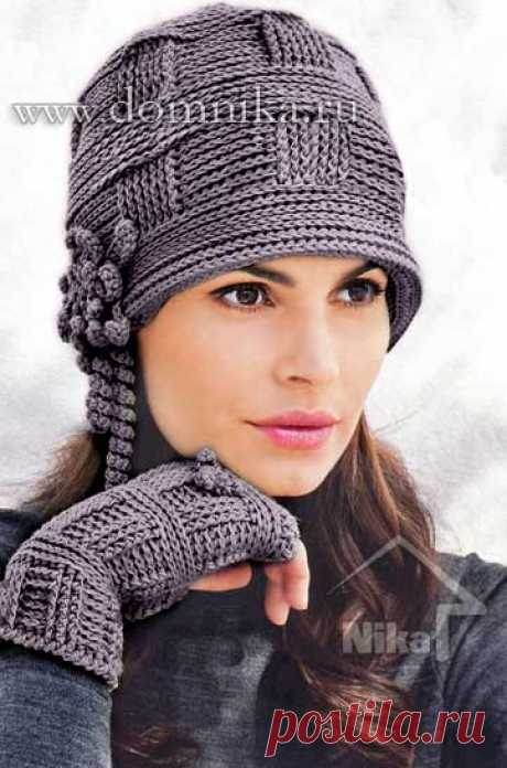 Stylish knitted women's cap