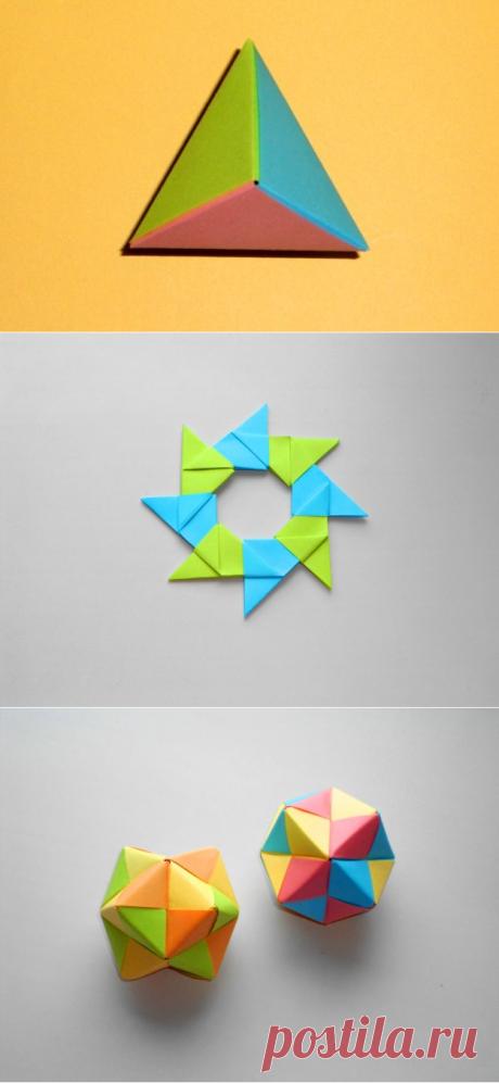 Оригами пирамида (многогранник)