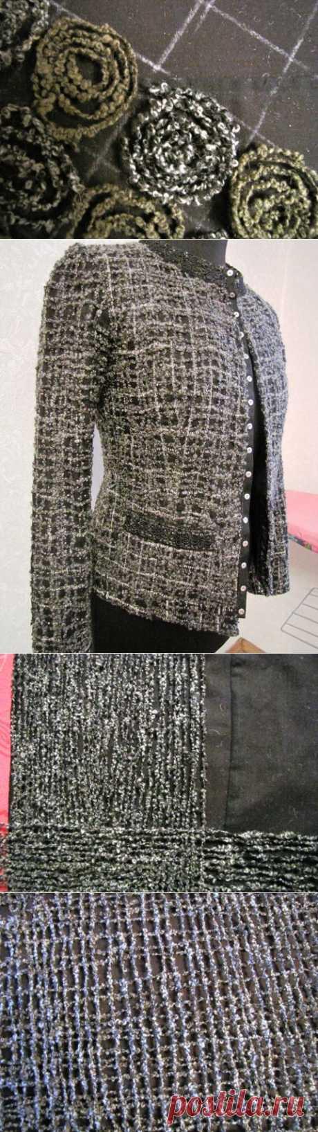 Способ изготовления крейзи-ткани для создания жакета- шанель. Мастер-класс