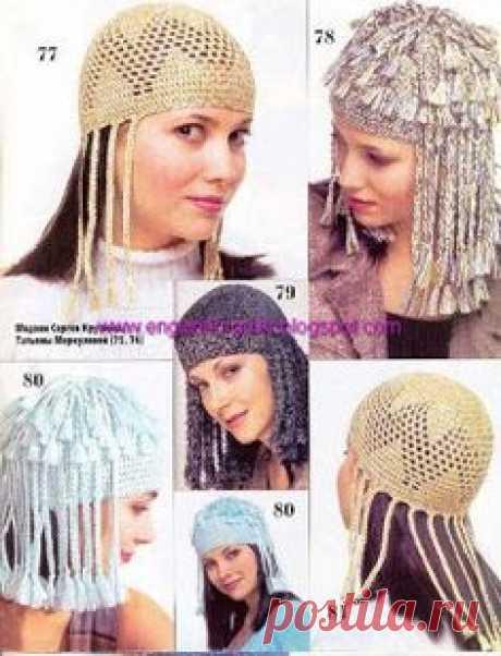 Летние вязанные шапочки