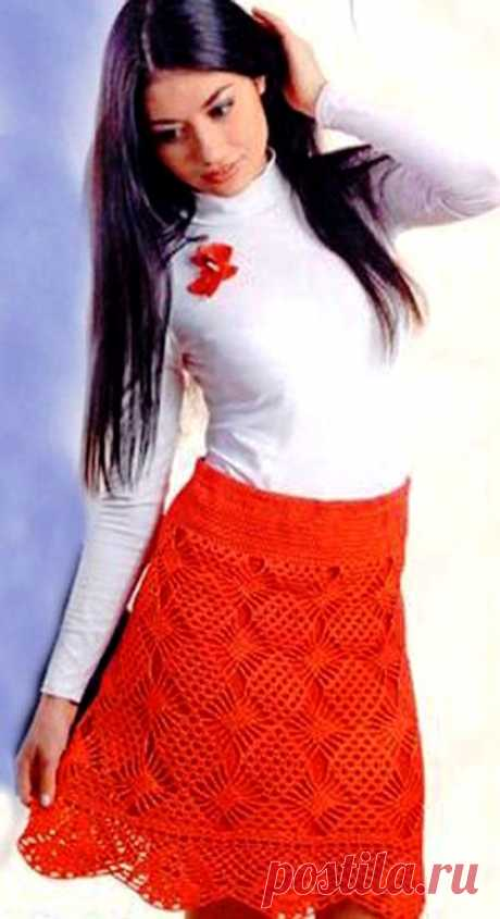 Красная ажурная юбка – почти как у Кармен - САМОБРАНОЧКА рукодельницам, мастерицам