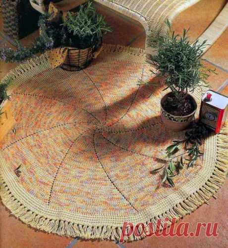 Милый коврик для дома из категории Интересные идеи – Вязаные идеи, идеи для вязания