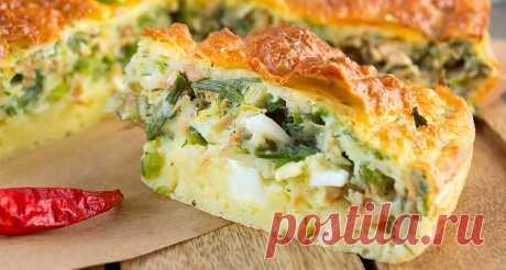 Заливной овощной пирог с сыром - рецепты от ТМ Шостка
