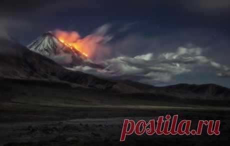«Огненное дыхание планеты». Ключевская сопка, Камчатка.