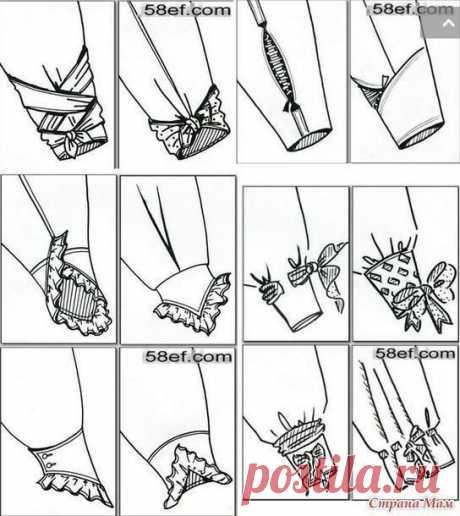 Оформление низа рукава — Сделай сам, идеи для творчества - DIY Ideas
