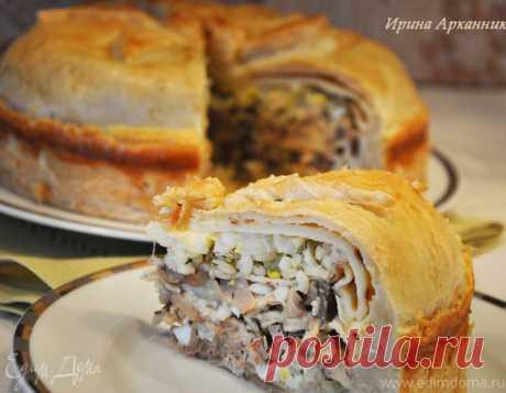 La empanada con carne de gallina — blinnyy el pastel por-starorusski