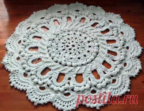 "Потрясающий ковер по схеме салфетки ""Splendid"" - Crochet - Modnoe Vyazanie"