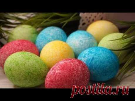 За пару минут красивые и необычные яйца на Пасху!