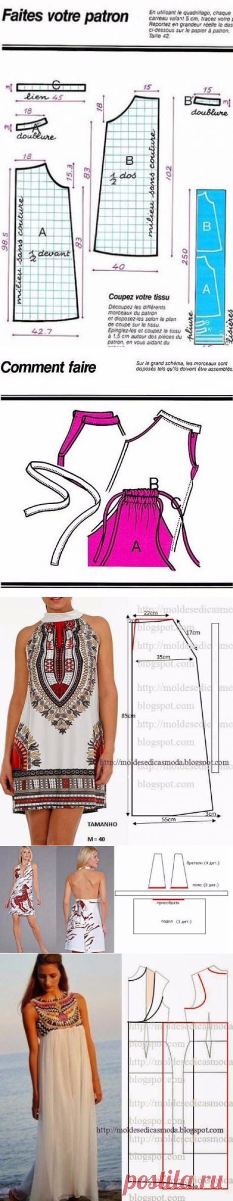 Летние платья и сарафаны с простыми выкройками. Большая подборка | В темпі життя