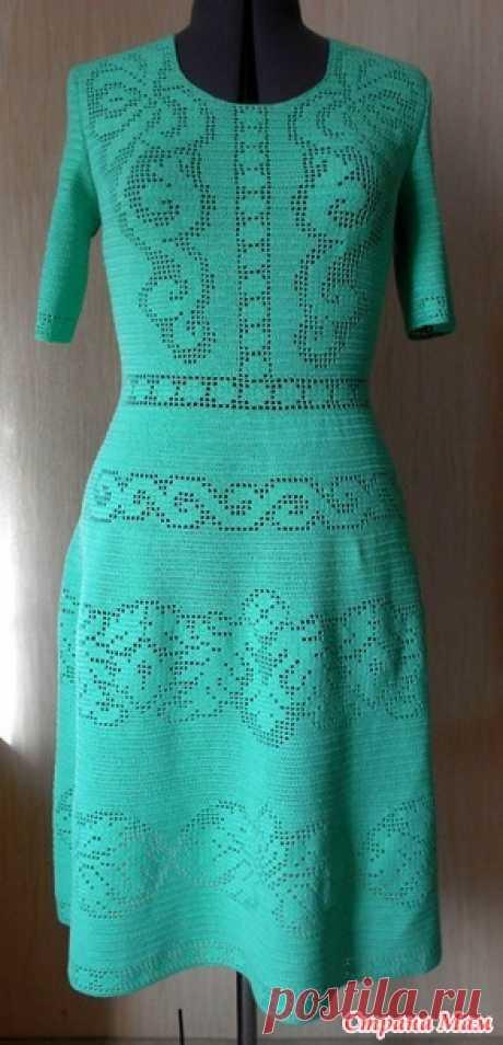 """Платье крючком """"Сухоцвет"""" от Валентино. Мой вариант - Вязание - Страна Мам"""