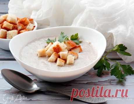 Грибной крем-суп с чесночными сухариками, пошаговый рецепт на 1905 ккал, фото, ингредиенты - Лялич