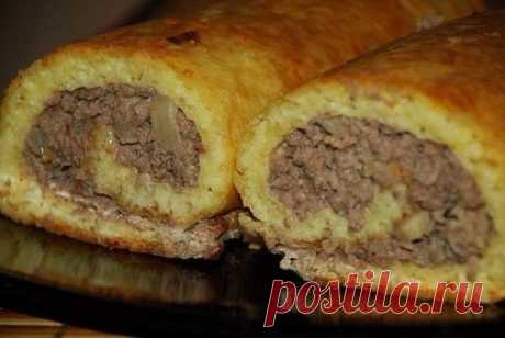 Картофельный рулет-мягкий,нежный и очень вкусный