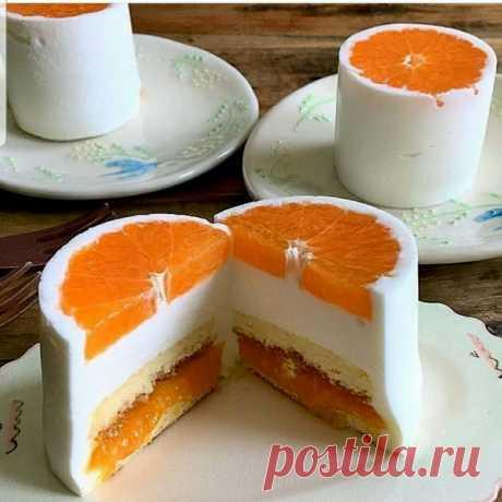 Фруктовый тортик на одного