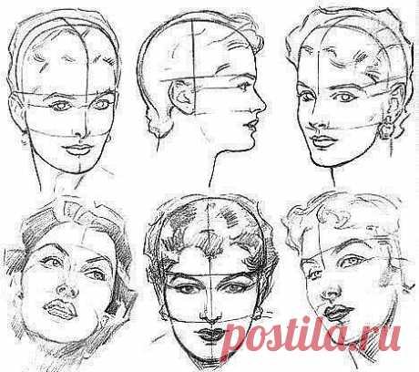 Учимся рисовать лицо