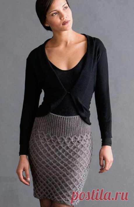 Как связать теплую юбку узором соты на спицах – 3 стройнящие модели со схемами и описанием, видео
