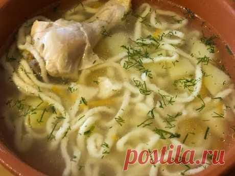 Гениальный суп с домашней лапшой по новому!3 минуты и лапша готова!!!