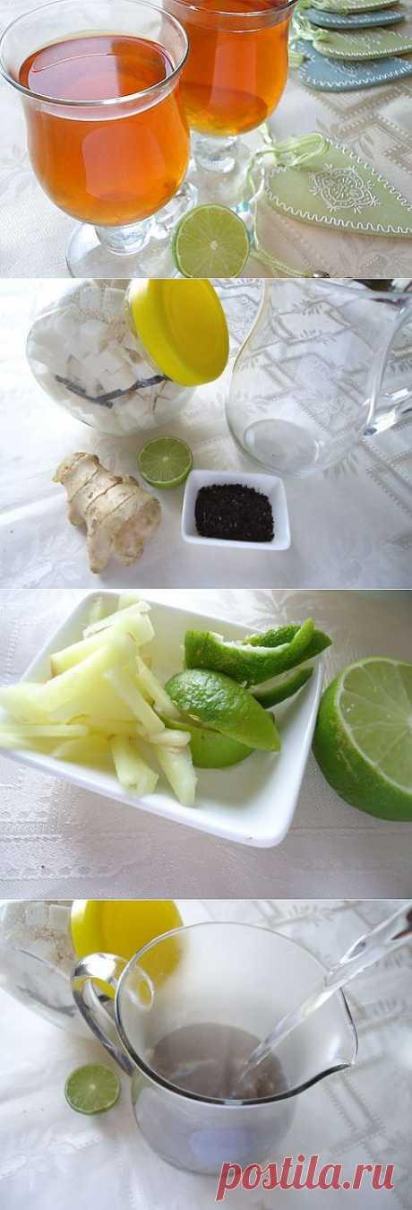 Имбирно-лаймовый чай рецепт с фото