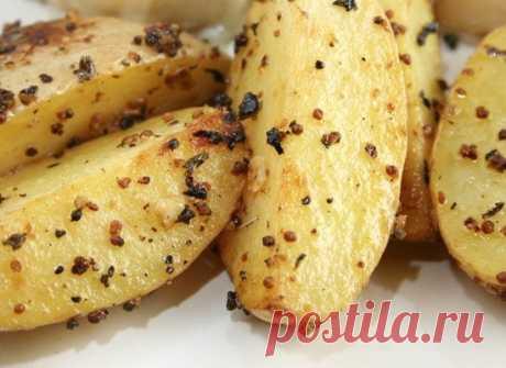 Как приготовить картофель, запеченный в горчице  - рецепт, ингредиенты и фотографии