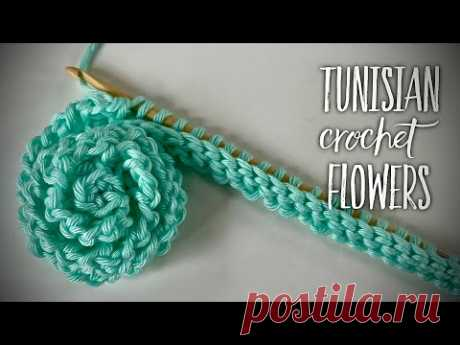 ЭТО ПРОСТО ШИК: ВЯЖЕМ ЦВЕТЫ ТУНИССКИМ КРЮЧКОМ!💥💥💥/ TUNISIAN CROCHET: FLOWERS