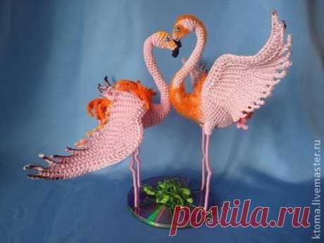 Мастер-класс Фламинго.Авторская работа - розовый,птица,подарок,свадьба интерьер