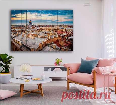"Картина ""Закат в Санкт-Петербурге"" по цене от 5900 руб. Размеры: 60x90 см, 80x120 см, 100x150 см, 120x180 см. Срок изготовления: 2-3 дня."