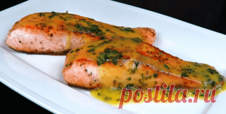 Жареная красная рыба в лимонном масле - Пошаговый рецепт с фото