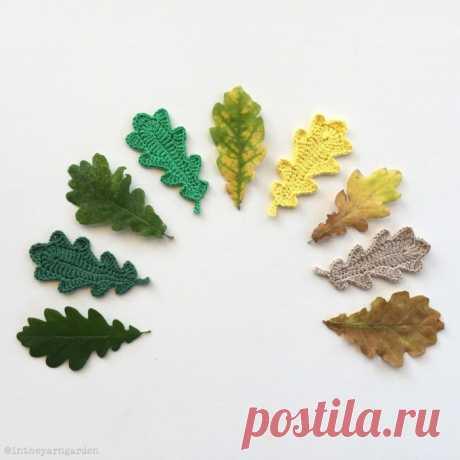 цветы листья крючком и спицами людмила идеи и фотоинструкции