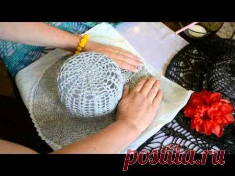 Ponemos el sombrero de señora tejido