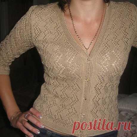 La blusa por los rayos por la cinta chiné. La blusa femenina sobre los botones por los rayos la descripción | Mí el Ama
