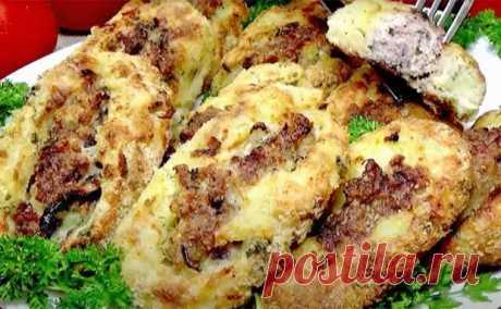 Зразы из картофеля покорили простотой и вкусом. Смешиваем фарш со сладким луком, а потом заворачиваем в большой лист пюре - Steak Lovers - медиаплатформа МирТесен