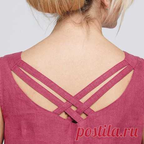 Как сделать спинку льняного платья